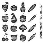 vector fruit and vegetables...   Shutterstock .eps vector #422588857