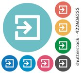 flat import icon set on round... | Shutterstock .eps vector #422606233