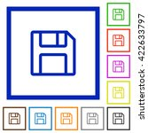 set of color square framed save ...