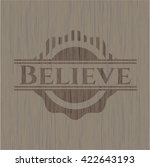 believe wooden emblem | Shutterstock .eps vector #422643193