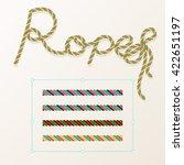 rope brush braid for decoration ... | Shutterstock .eps vector #422651197