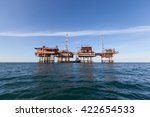 oil platform in china | Shutterstock . vector #422654533