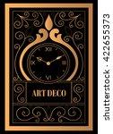 art deco clock vector. vintage... | Shutterstock .eps vector #422655373