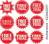 free trial red label. free tria ... | Shutterstock .eps vector #422662057