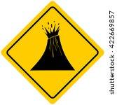 volcano warning sign | Shutterstock .eps vector #422669857