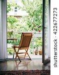 beautiful terrace or balcony... | Shutterstock . vector #422677273
