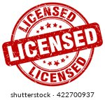 licensed. stamp | Shutterstock .eps vector #422700937