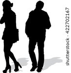 vector silhouette of the going... | Shutterstock .eps vector #422702167