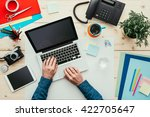 creative freelancer working at... | Shutterstock . vector #422705647