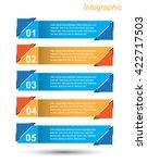 info graphic design template | Shutterstock .eps vector #422717503