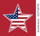 us flag in the shape of a star. ... | Shutterstock .eps vector #422718793