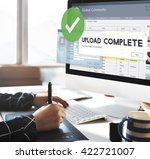 upload complete data uploading... | Shutterstock . vector #422721007