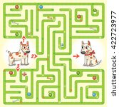 help the dog to find the right... | Shutterstock .eps vector #422723977
