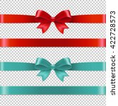 color bows collection  isolated ... | Shutterstock .eps vector #422728573