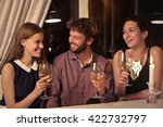 friends making a toast | Shutterstock . vector #422732797