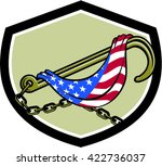 illustration of a towing j hook ... | Shutterstock .eps vector #422736037