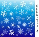 snowflakes on blue background   Shutterstock .eps vector #42273985