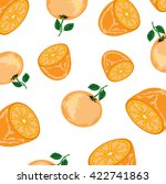 oranges background | Shutterstock .eps vector #422741863