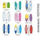 different surfboard set.... | Shutterstock .eps vector #422747503