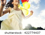 girl recreation happiness... | Shutterstock . vector #422774437