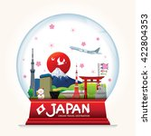 snowball japan vector. country... | Shutterstock .eps vector #422804353