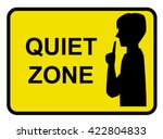 quiet zone concept vector... | Shutterstock .eps vector #422804833
