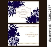 vintage delicate invitation... | Shutterstock . vector #422812897