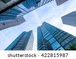look up modern office building... | Shutterstock . vector #422815987