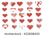 vector heart | Shutterstock .eps vector #422838433