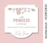 shabby chic baby girl shower... | Shutterstock .eps vector #422852833