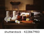 spa massage setting  close up | Shutterstock . vector #422867983