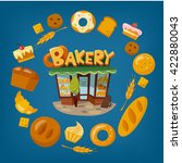 bakery shop infographic design. ... | Shutterstock .eps vector #422880043