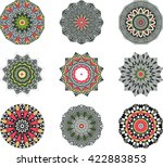ethnic indian mandala set  ... | Shutterstock .eps vector #422883853