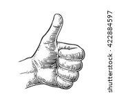 hand showing symbol like.... | Shutterstock .eps vector #422884597