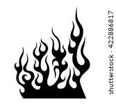 flame tattoo tribal vector... | Shutterstock .eps vector #422886817