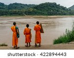 luang prabang march 14  monks... | Shutterstock . vector #422894443