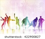 dancing people silhouettes | Shutterstock .eps vector #422900827