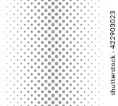 circle halftone dots vector... | Shutterstock .eps vector #422903023