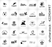 black and white logo collection ... | Shutterstock . vector #422904997