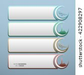 set of 3d banners with islamic... | Shutterstock .eps vector #422908297