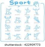 vector doodle sport icon set | Shutterstock .eps vector #422909773
