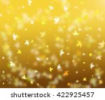 autumn leaves sunny background. ... | Shutterstock . vector #422925457