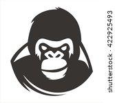 gorilla head smile | Shutterstock .eps vector #422925493