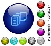 set of color move file glass...