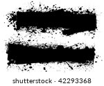 two ink splats with room to add ... | Shutterstock . vector #42293368