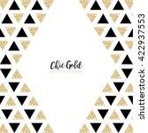 modern chic gold background... | Shutterstock .eps vector #422937553