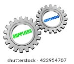 suppliers and customers   text... | Shutterstock . vector #422954707