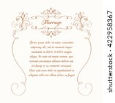 decorative floral frame.... | Shutterstock .eps vector #422958367