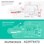 web development and application  | Shutterstock .eps vector #422975473