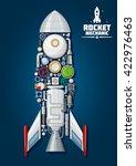 rocket mechanics of spaceship... | Shutterstock .eps vector #422976463